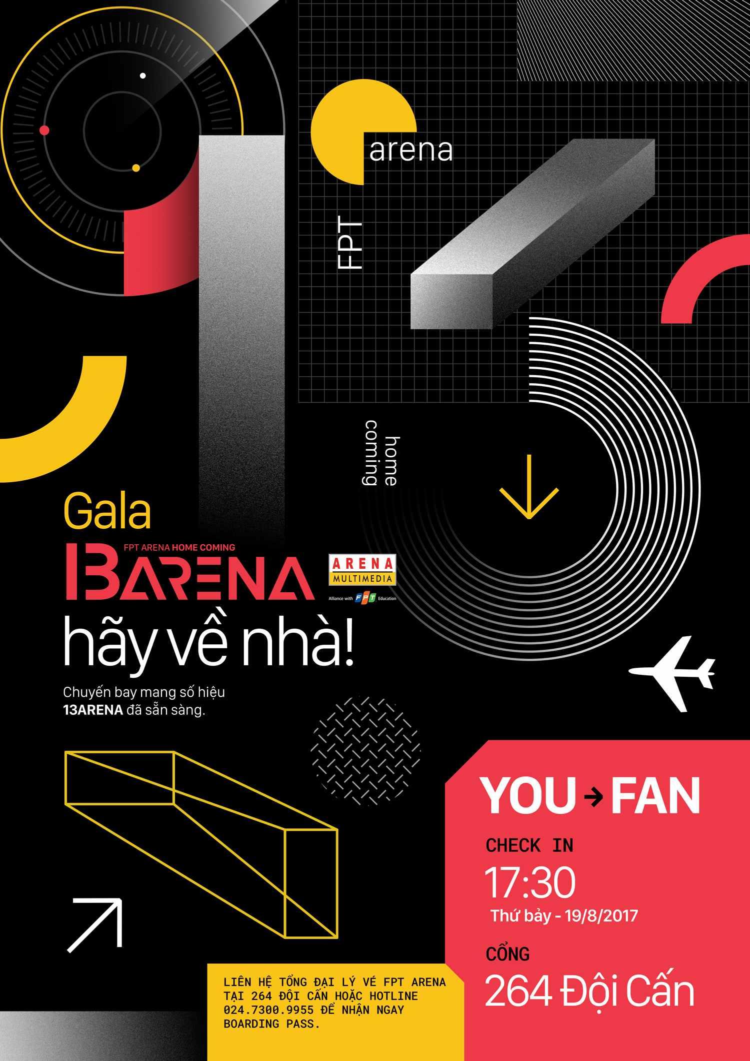 Chuyến bay i3 Arena sẽ đưa tất cả về nhà trong đêm 19/8