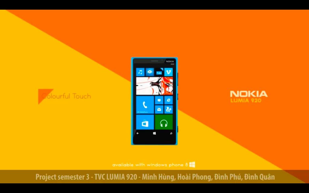 Project Sem 3 – TVC Lumia 920