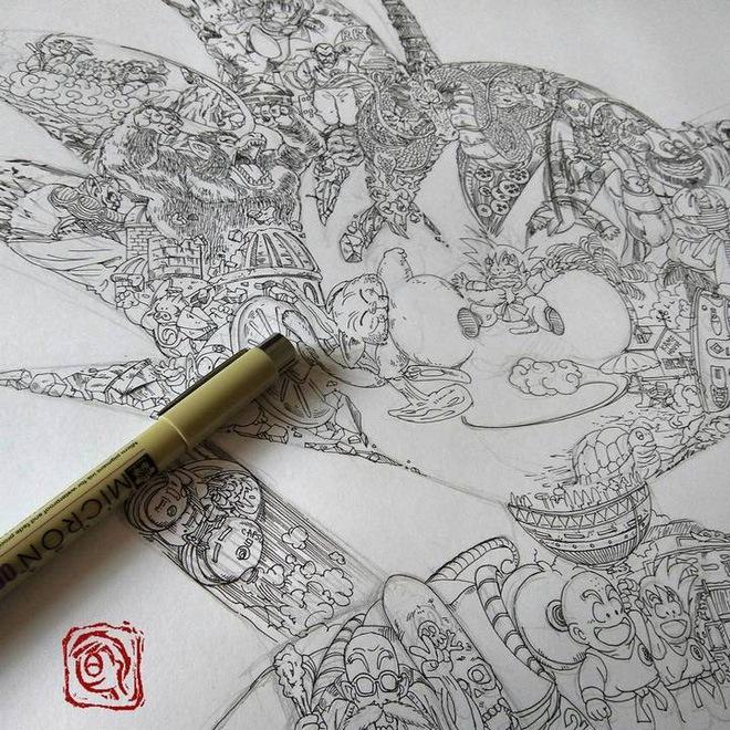Thế nhưng họa sỹ Ah Leung đã làm được điều đó vô cùng xuất sắc