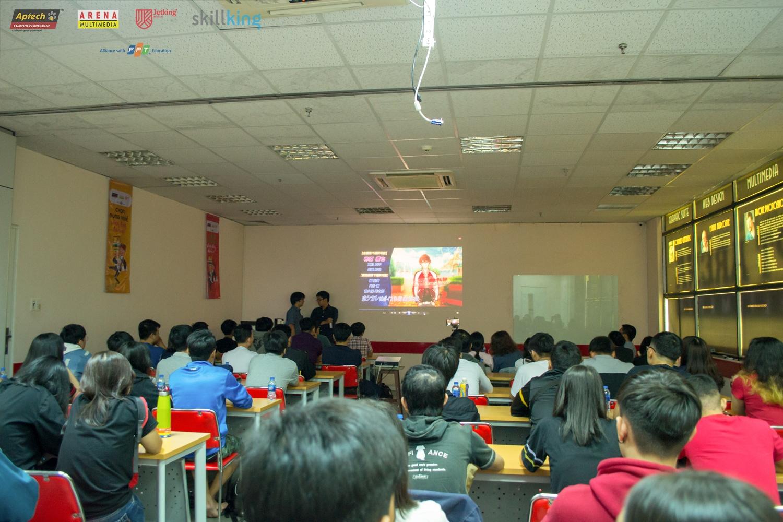 Sinh viên FPT Arena, FPT BTEC lắng nghe chia sẻ của nhà tuyển dụng
