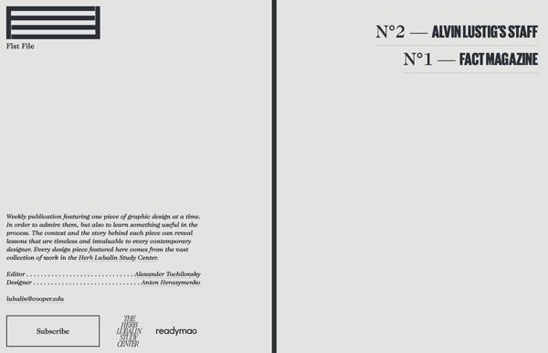 Từ trung tâm nghiên cứu Herb Lubalin, ấn phẩm hàng tuần trong công việc thiết kế đáng ngưỡng mộ từ bộ sưu tập của họ.