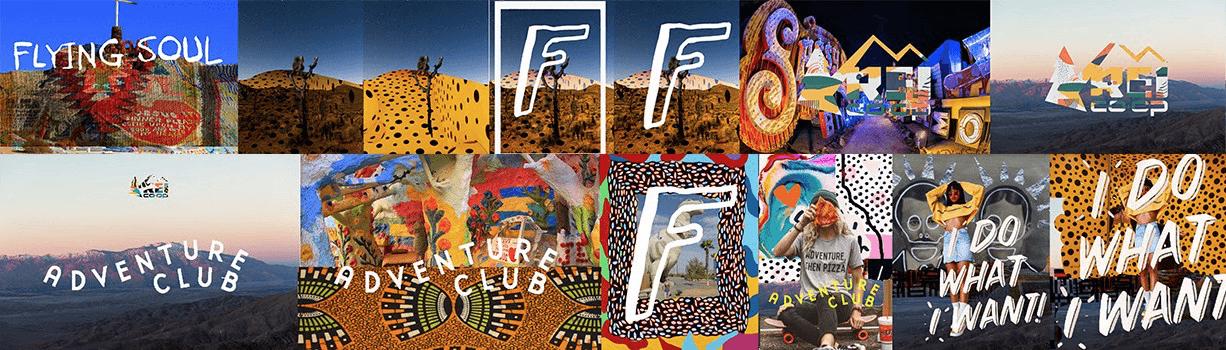 Đây là Stylescape phiên bản đầu tiên của tôi. Dùng Photoshop để kết hợp kiểu chữ, pattern, hình ảnh… lại với nhau. Những bản mẫu đầu tiên này sẽ định hình phong cách mà tôi muốn phát triển cho thương hiệu.