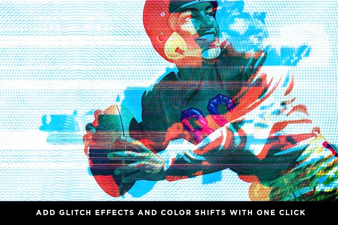 Hình ảnh minh họa hiệu ứng Glitch