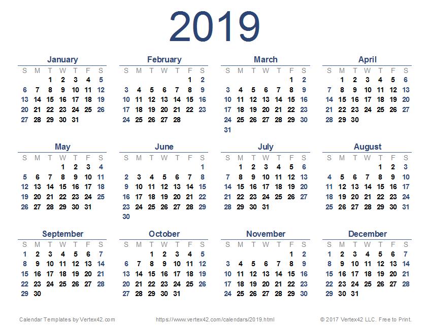 Lịch theo phong cách tối giản vẫn được ưa thích và là xu hướng lịch 2019