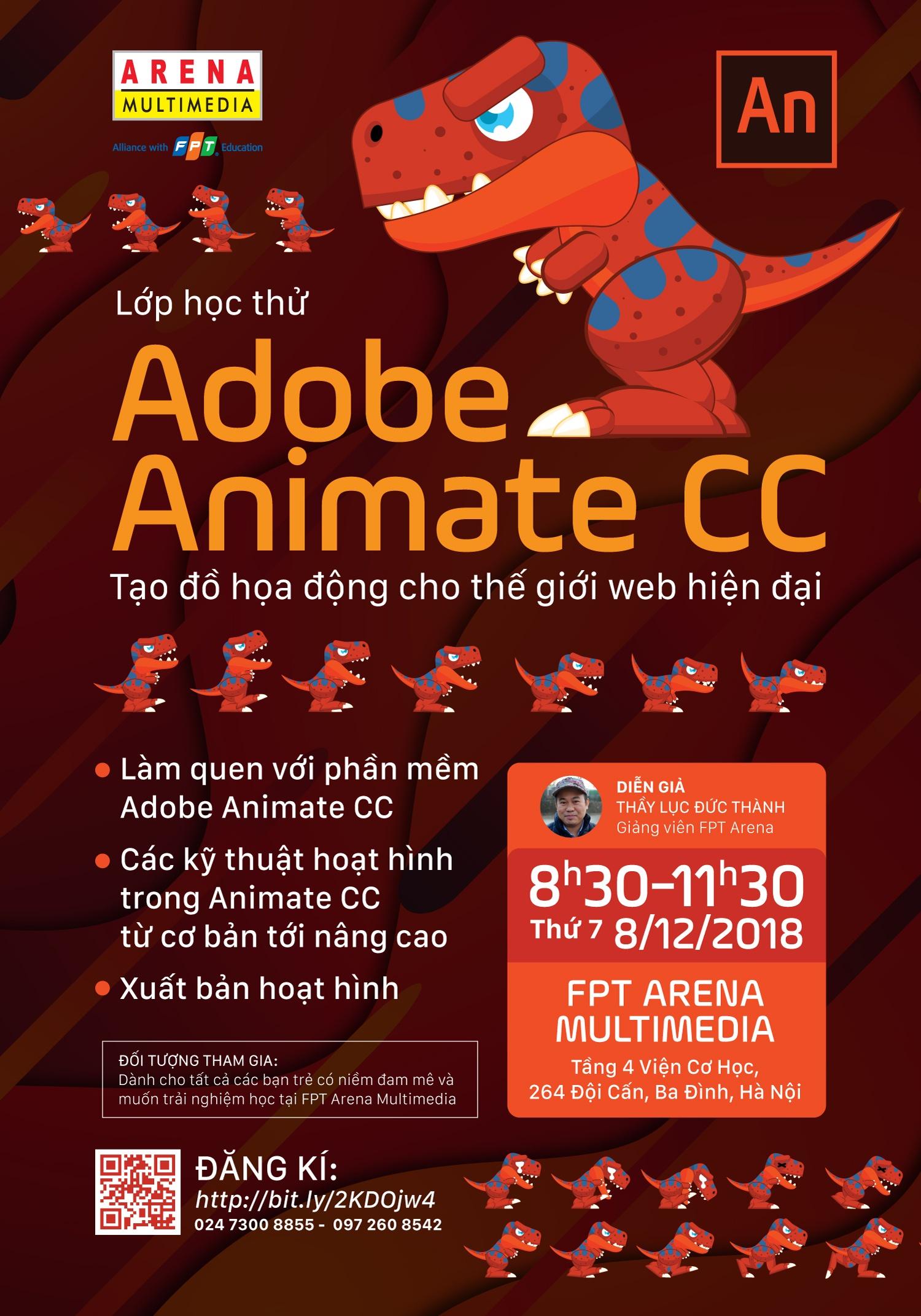 Adobe Animate CC - Phần mềm tạo đồ họa động cho trang web hiện đại