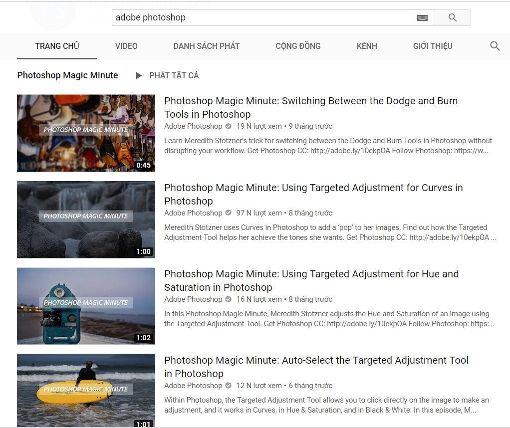 """Adobe Photoshop là kênh channel hàng đầu cho các """"newbie"""" làm quen với nghề"""