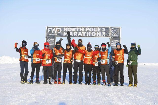 Các vận động viên tham gia cuộc thi năm 2018.