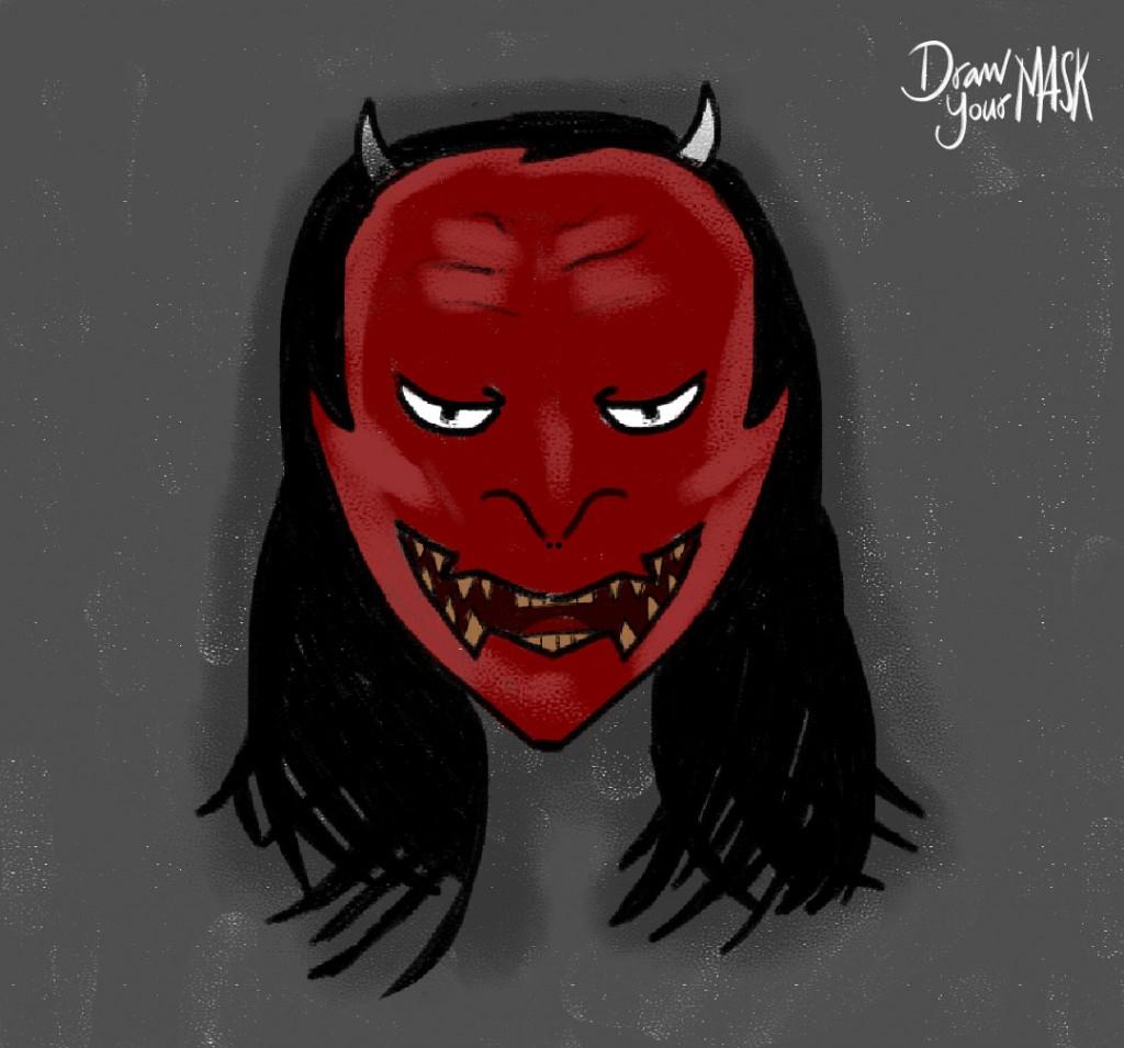 Xếp hạng ở vị trí thứ 10 với 123 điểm (49 lượt thích, 37 lượt chia sẻ), tác phẩm dự thi của bạn Kiều Ngọc Yến cũng đã khiến nhiều người xem phát hoảng cùng hình tượng của Quỷ.