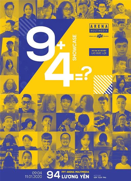 """43 gương mặt đã """"bay trong không gian 94"""", 43 tác giả của triển lãm 9+4=? SHOWCASE."""