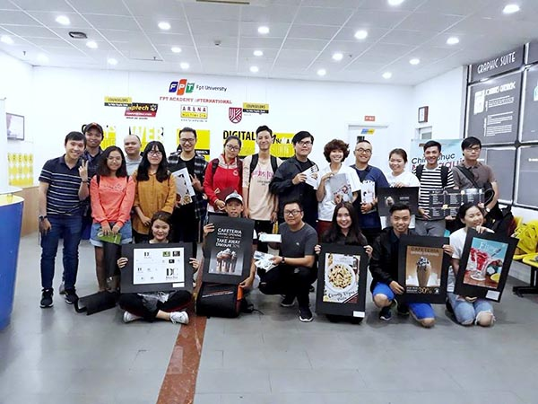 Học viên tại FPT Arena và những sản phẩm đồ họa quảng cáo