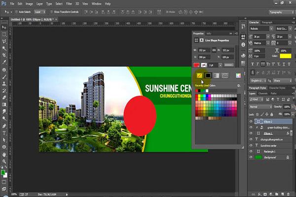 Khóa học Photoshop - thiết kế banner