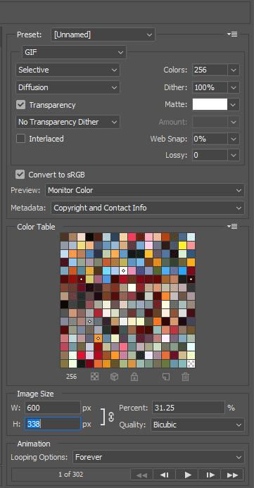 Điều chỉnh chất lượng ảnh GIF