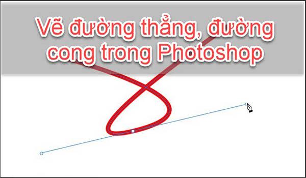 cách vẽ đường thẳng trong photoshop