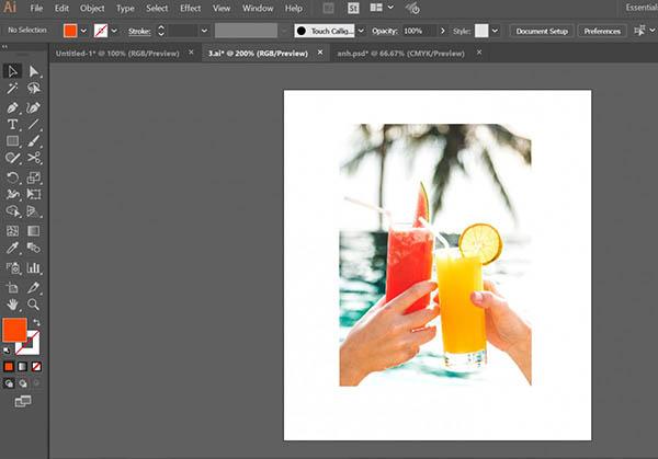 tạo viền cho ảnh trong illustrator