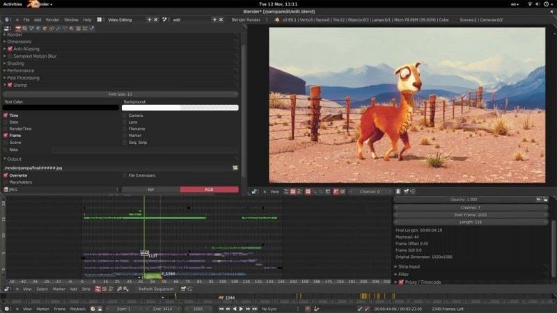 Phần mềm dựng video Blender