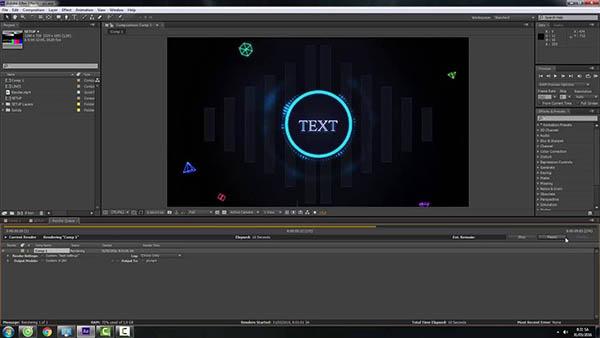 Cách render After Effect dạng GIF