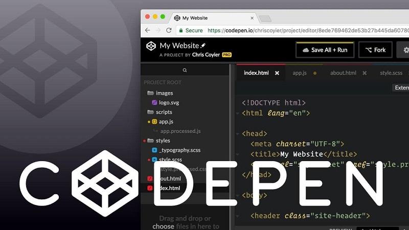 CodePen giúp viết code