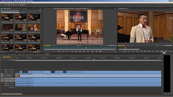 phần mềm dựng phim Adobe Premiere