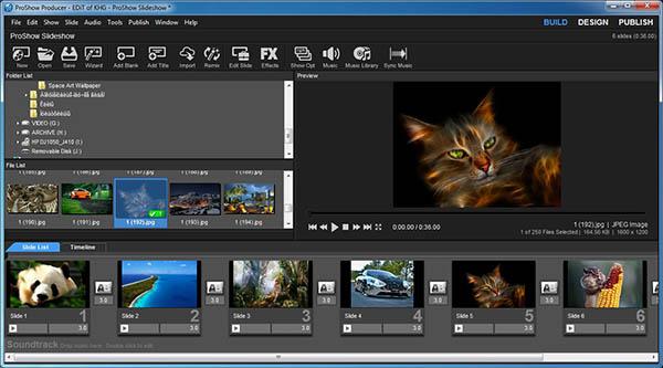 phần mềm dựng phim đơn giản Proshow Producer