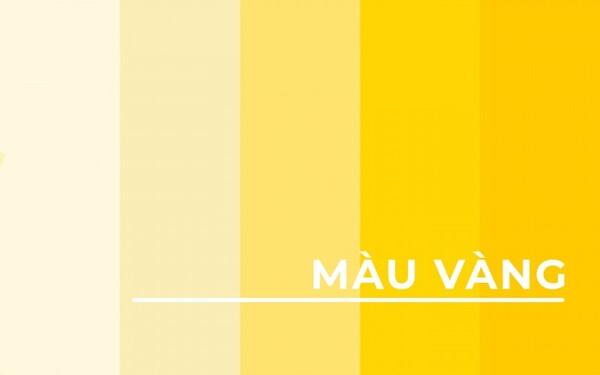 Các loại màu vàng