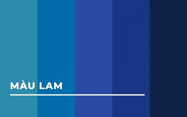 Các sắc độ màu sắc của xanh lam