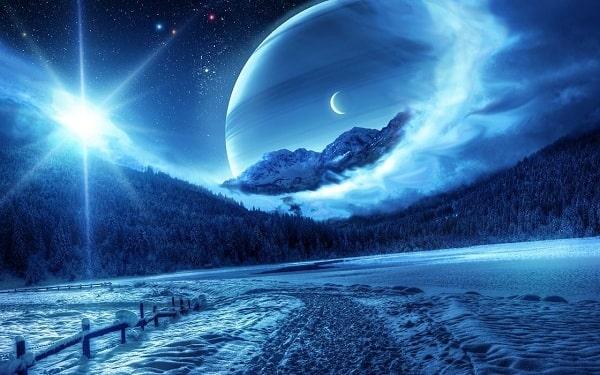 Màu xanh lam thể hiện cho sự bình an