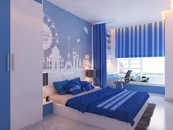 Màu xanh lam trong thiết kế nội thất
