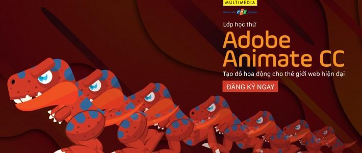 Buổi học thử Adobe Animate CC – Tạo đồ họa động cho thế giới web hiện đại