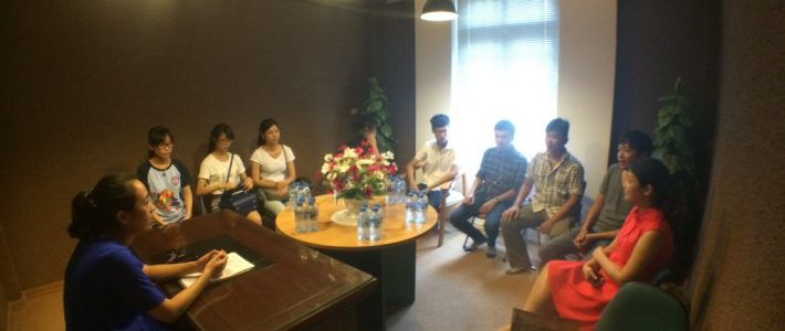 Sinh viên FPT Arena ghé thăm Song Ngư TV
