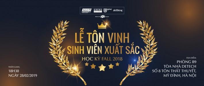 FAI Hà Nội – Lễ tôn vinh sinh viên xuất sắc học kỳ Fall 2018