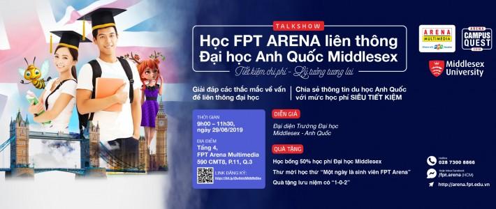 """Talkshow """"Học FPT Arena liên thông Đại học Anh Quốc Middlesex"""""""