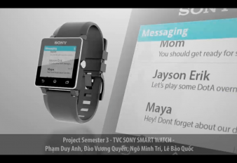 Project Sem 3 – Sony SmartWatch