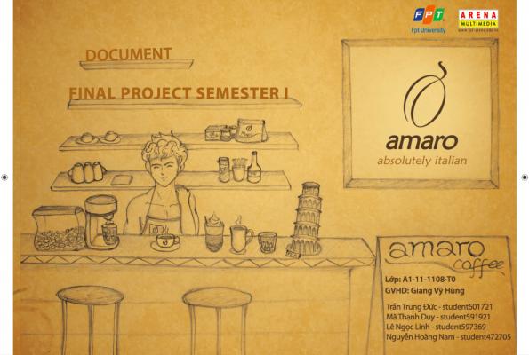 Amaro Coffee – 1108T0